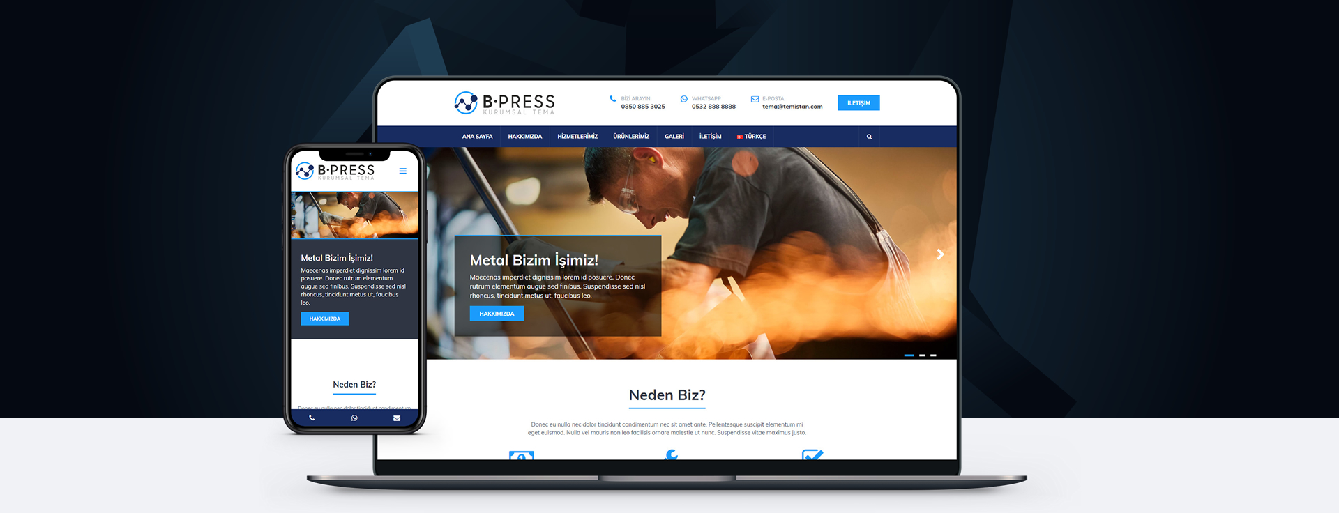 B-PRESS Wordpress Teması